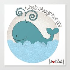 I {❤} Whale Canvas Print