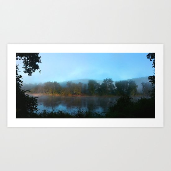 As We Slept, the Sea Married the River Art Print