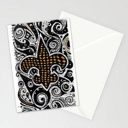 Fleur de Lis Gold Stationery Cards
