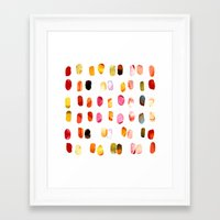 aelwen Framed Art Prints featuring strokes of colors by clemm