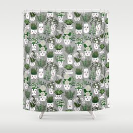 Face Vase Shower Curtain