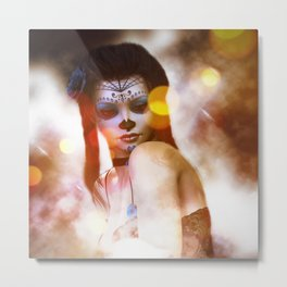 Sugar Doll Glitter Metal Print