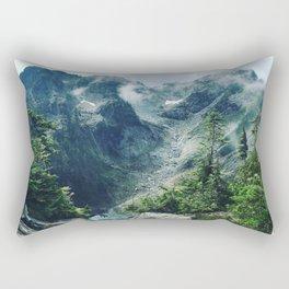 Mountain through the clouds Rectangular Pillow