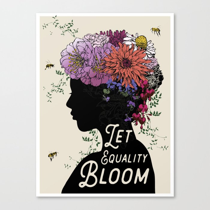 LET EQUALITY BLOOM Canvas Print