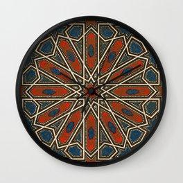 Islamic Geometry Orientalist Middle Eastern Arabian Persian Vintage Style Moroccan Rugs Wall Clock