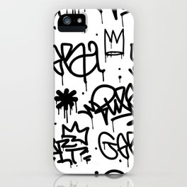 Crowns & Graffiti pattern iPhone Case
