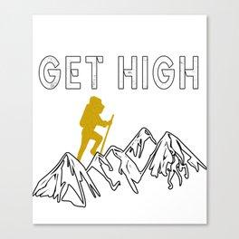 Rockclimbing Mountaineer Climber Climbing Gift Canvas Print