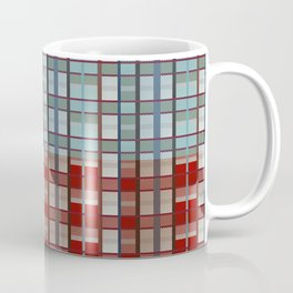 Square plaid pattern in classic style Coffee Mug