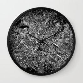 Berlin Black Map Wall Clock