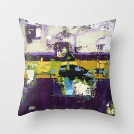 Controversy Prince Deep Purple Abstract Painting Modern Art Throw Pillow