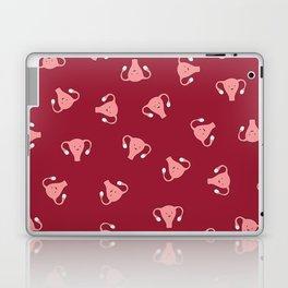 Crazy Happy Uterus in Red, Large Laptop & iPad Skin