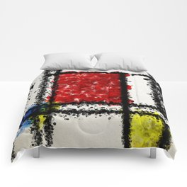Mondrian with a twist Comforters