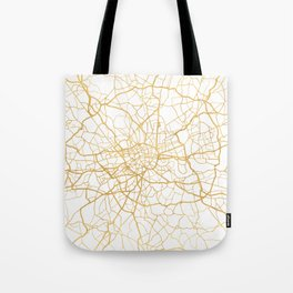 LONDON ENGLAND CITY STREET MAP ART Tote Bag