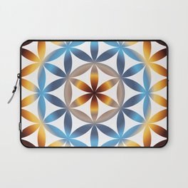 Rainbow seed of life pattern Laptop Sleeve