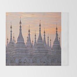 Sandamani Pagoda, Mandalay, Myanmar Throw Blanket