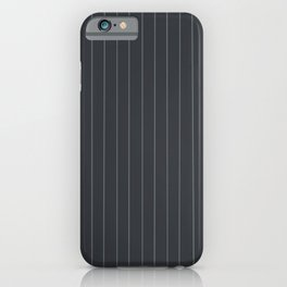 Gray with Gray Pinstripes iPhone Case