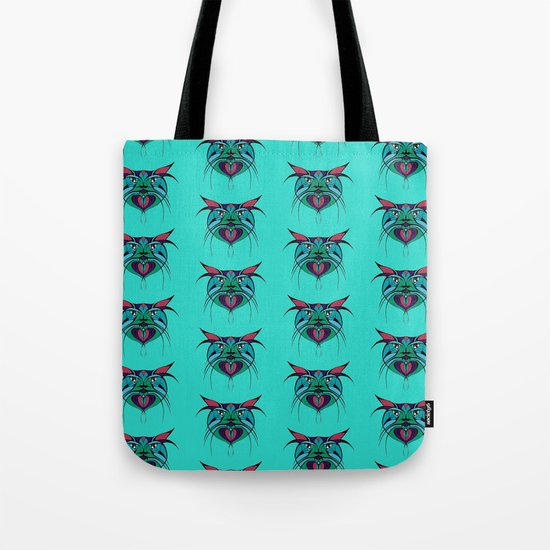 Tribal Cats 3 Tote Bag
