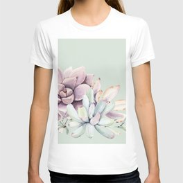 Beautiful Mint Succulents T-shirt