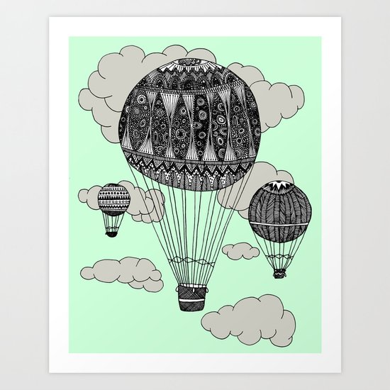 Hot Air Ballooning Art Print