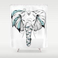 Poetic Elephant Shower Curtain