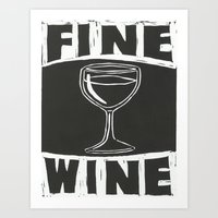 wine Art Prints featuring Wine by Peter Dunne