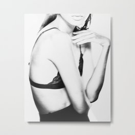 Fashion girl, Woman, Model, Fashion art, Photo, Minimal Metal Print
