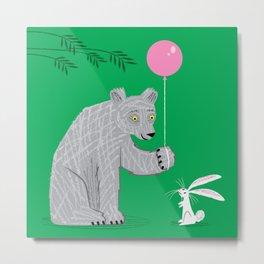 The Bear and The Bunny Metal Print