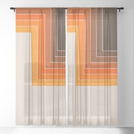 Cornered Golden Sheer Curtain