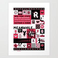 Thunder Pants Specimen Poster Art Print