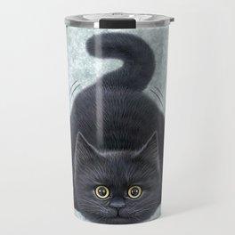 Black kitten Travel Mug