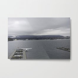 Seaplane and Stanley Park Metal Print