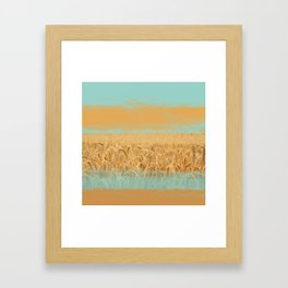 Harvest Landscape Framed Art Print