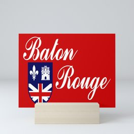 flag of baton rouge Mini Art Print