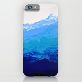High Tide Blue Turquoise Water Fluid Abstract iPhone Case