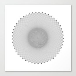 AFRAD 'SINGULAR' | 49-POINT MANDALA (BLACK) Canvas Print