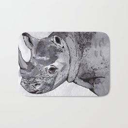 Rhino - Animal Series in Ink Bath Mat