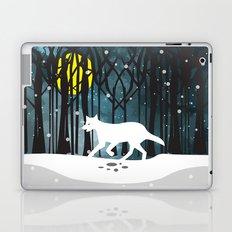 White Wolf at Midnight Laptop & iPad Skin