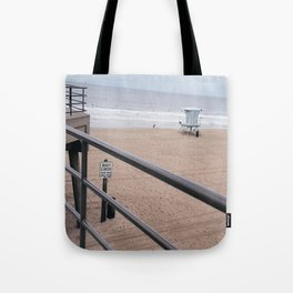 The Rails of Sand Tote Bag