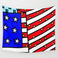 american Wall Tapestries featuring American by Mariana
