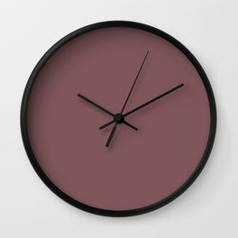 ROSE BROWN solid color  Wall Clock