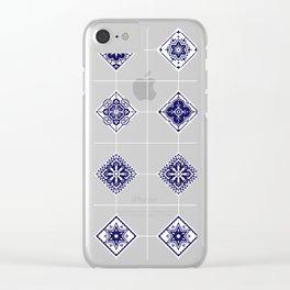 Talavera Mexican Tile – Porcelain Palette Clear iPhone Case