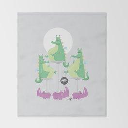 Dragons Ride Rhinos Throw Blanket