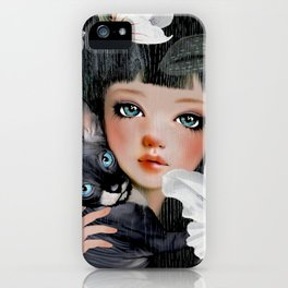 Sphynx Among Orchids iPhone Case