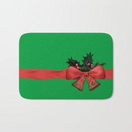 green xmas gift Bath Mat