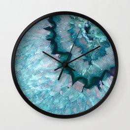Teal Crystal Wall Clock