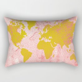 COME WITH ME AROUND THE WORLD Rectangular Pillow