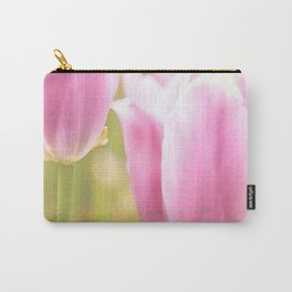 Spring is here with wonderful  colors - close-up of tulips flowers #decor #society6 #buyart Carry-All Pouch