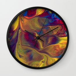 Paint Pouring 16 Wall Clock