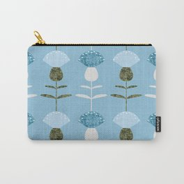 MCM Basket Flower Blue Carry-All Pouch