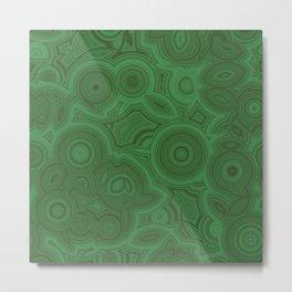 Green Agate Metal Print